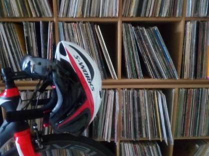 fiets en platen